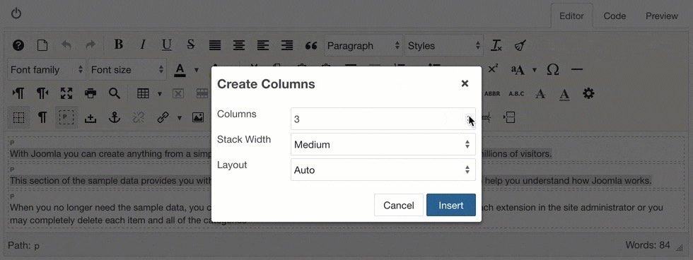 Create columns with a selection and add an extra column