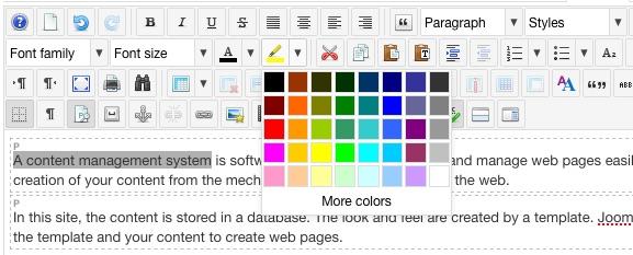 Font Background Color