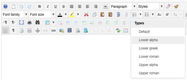 editor list styles