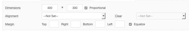 Embed options