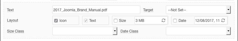 Link format options