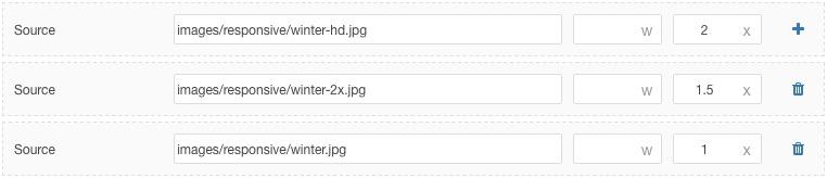 Multiple device pixel ratios