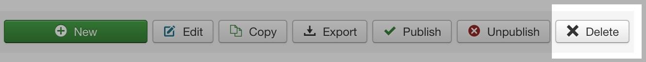 Delete Profile button