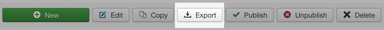 Export Profile button