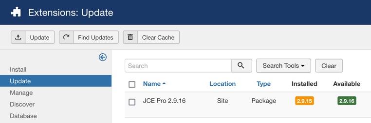 JCE Update