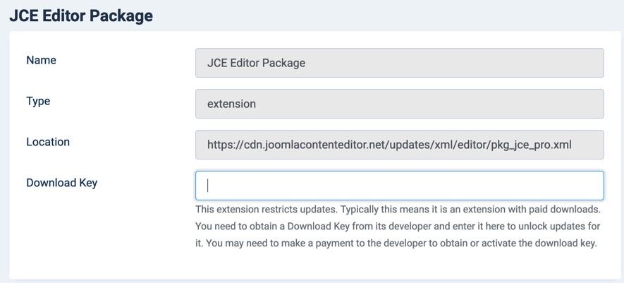 JCE Editor Download Key