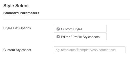 style select custom stylesheet