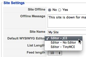 joomla 1.5 jce editor