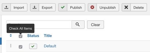 Select all profiles and click the delete button