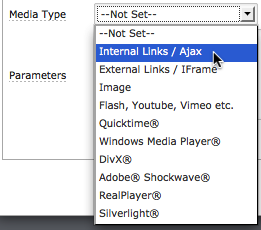 mediabox link type