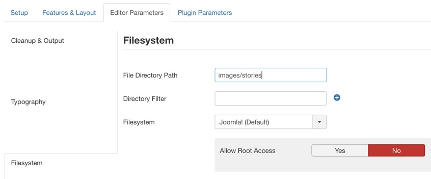 Setting the global File Directory Path