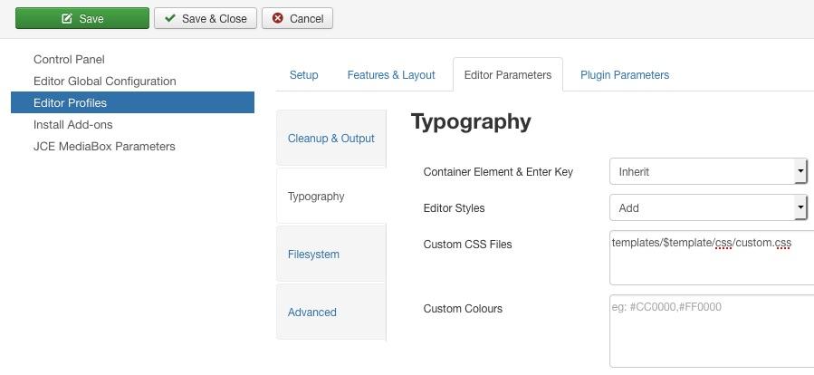 Change default font size on editor
